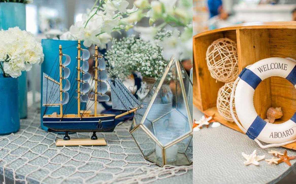 """Go For the Nautical Theme Wedding Decor For a Fresh and Relaxing """"Do"""""""