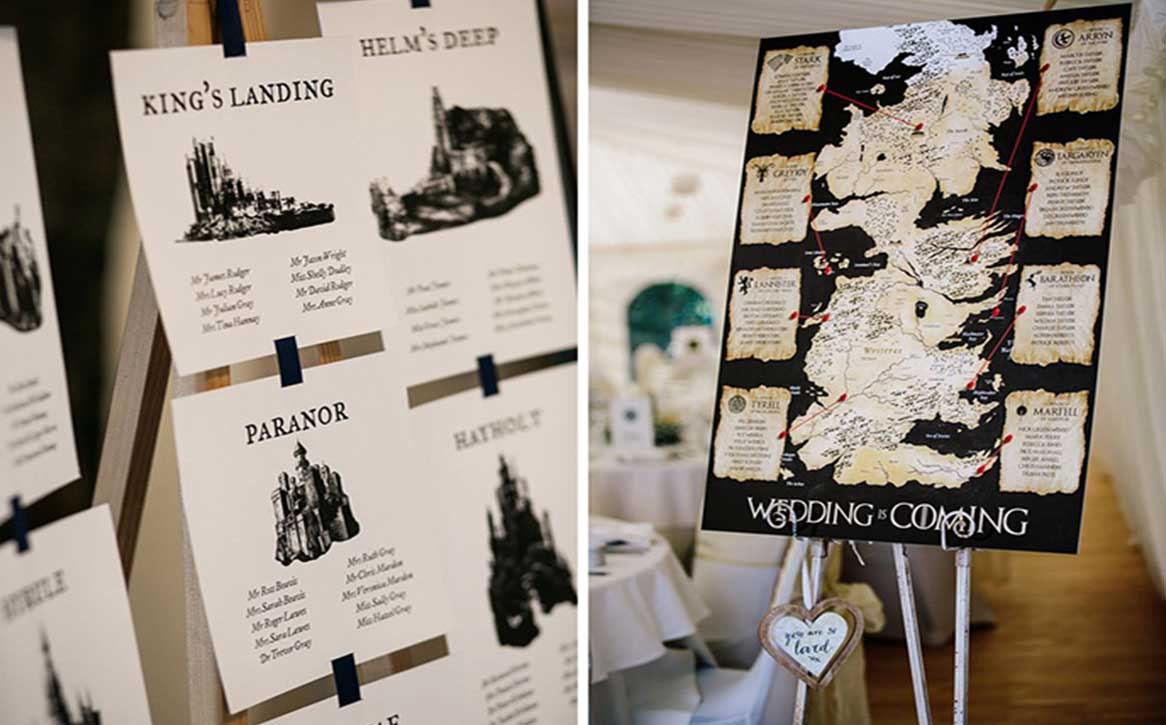 Game of Thrones Inspired Wedding Decor for all GOT Lovers