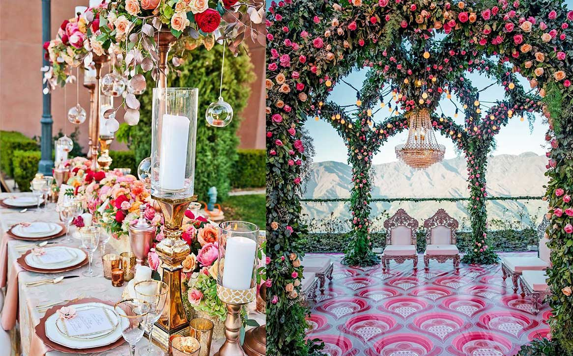 10 Magnificent ways to turn your wedding decor into a rosy affair