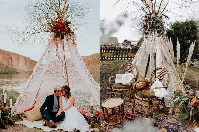 #TrendiestDecor: TeePee Tents for the Romantic Setup