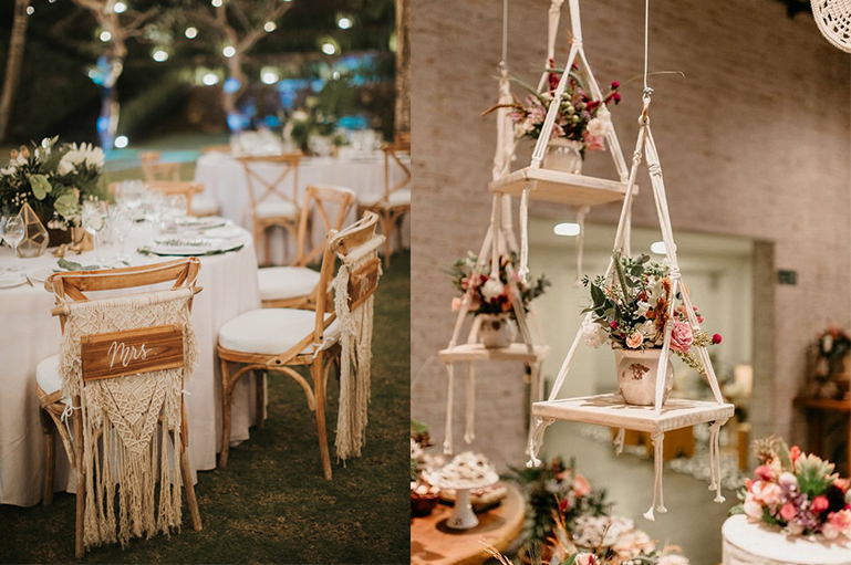 15 Trendy & Swanky Macrame Decor Ideas for your Boho-Chic wedding