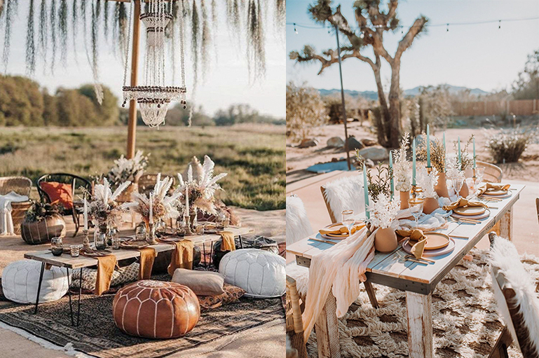 Go with the new & unique desert theme for a Scintillating Wedding Decor!